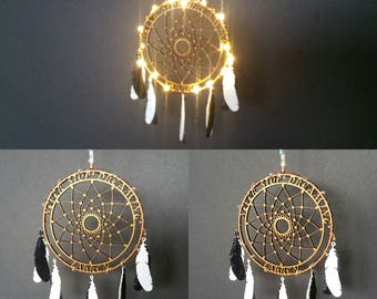 Dream Catcher KIT - DIY Dreamcatcher With  LEDs Laser Cut Face & 3D Printed Feathers