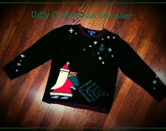 Wool Blend UGLY CHRISTMAS SWEATER