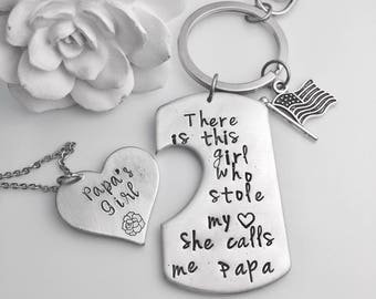 Granddaughter gift etsy gift for papa fathers day gift set birthday for poppa custom gift grandad negle Gallery