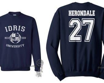 Herondale 27 Idris University Crew neck Sweatshirt Navy