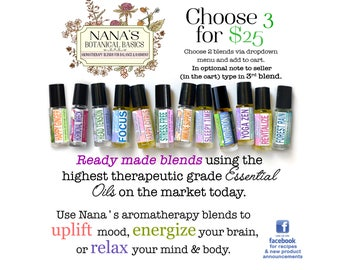 Essential Oil Roller Bottle Blends (ready made)