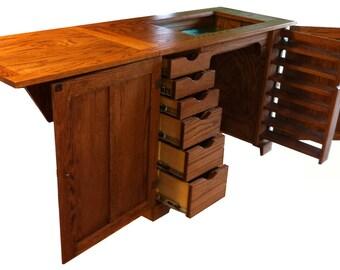 vintage singer 101 sewing machine and cabinet pick up only. Black Bedroom Furniture Sets. Home Design Ideas