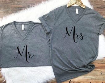 Mr Mrs Shirt Set. Mr Mrs Shirts. Mrs Shirt. Mr Shirt. Husband Wife shirt set. Mr Mrs shirt Set. Honeymoon Shirts, Hubby Wifey Shirts