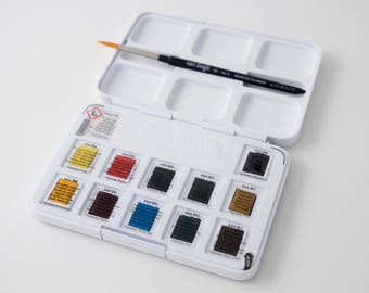 Van Gogh watercolors, pocket box of 12 pans