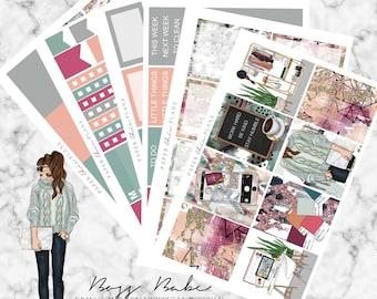 Boss Babe | EC Planner Stickers MATTE | Erin Condren Vertical Weekly Planner Kit