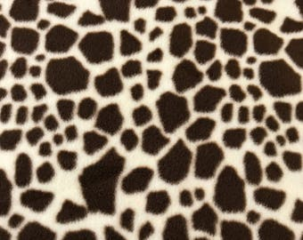 Fleece Big Dog Jacket -  Giraffe Print