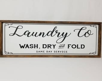 Laundry Co Sign, Laundry Room Decor