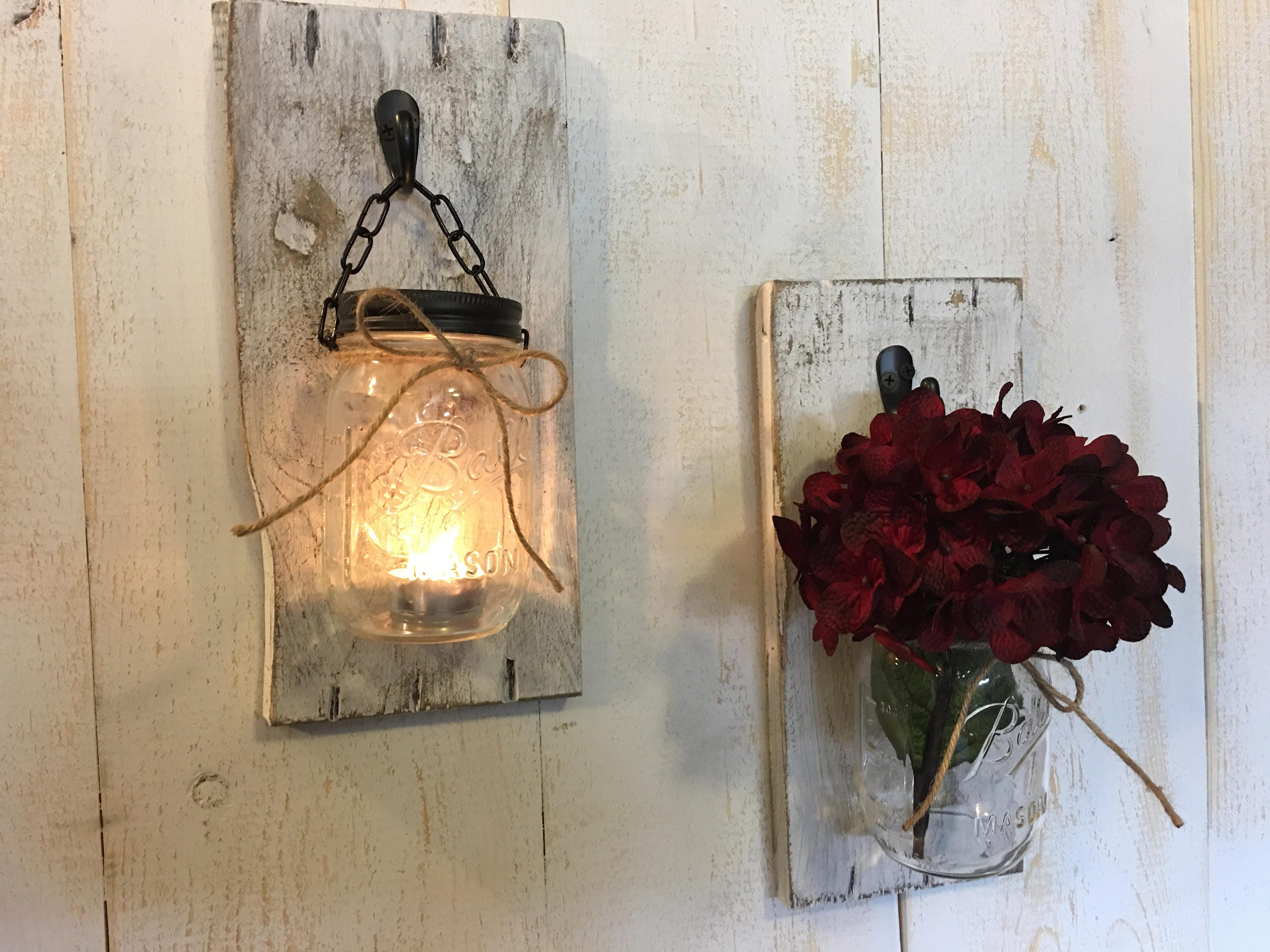 Candle holders rustic candle holders candles mason jar candles wall sconces candle sconces wood mason jar sconces 1 amipublicfo Image collections