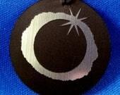 Total Solar Eclipse Laser-Engraved Necklace