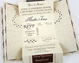 Wizarding World Wedding invitation