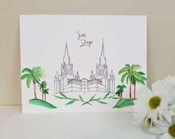 LDS San Diego Temple Print