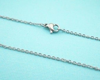 Stainless Steel O Chain - Wholesale Stainless Chain - 1.5mm Stainless Chain - Stainless Necklace - Rolo Chain - Bulk Rolo Chain