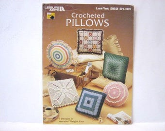 Vintage Crocheted Pillow Pattern Book, Pillow Pattern Book, Granny Square Pillow Patterns, Crochet Pillow Instruction Book, Crochet Pillows