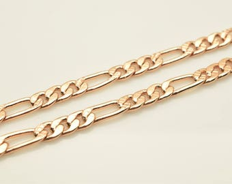 "18K Rose Gold Filled Chain 19"" Inch CG207"