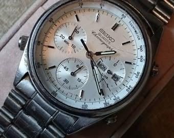 Vintage Gents Seiko Chronograph 7A38-7060 Men's Watch