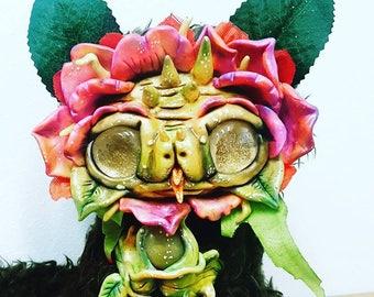 Flaulla the flower dragon handmade art doll