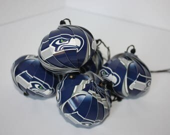 Seattle Seahawks NFL Ornaments : Single or Set of 5