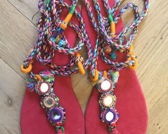 vintage sandals handmade