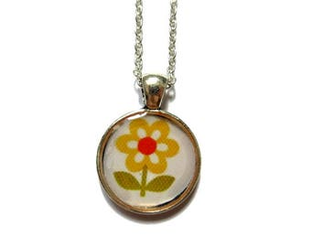 GIRLS FLOWER NECKLACE - Yellow Flower Girl Necklace - Girls Necklace - Children's jewelry - Flower necklace - Yellow Necklace
