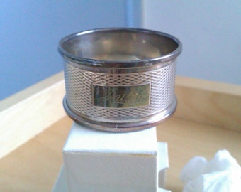 vintage silver napkin ring engraved (PETER)