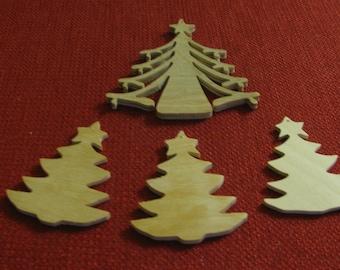 4 Christmas Tree Ornaments
