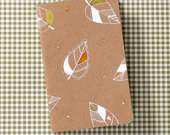 artistic cover notebook autumnal leaves