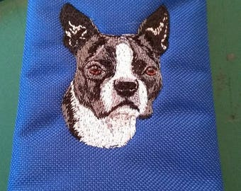 Embroidered Boston Terrier Wallet