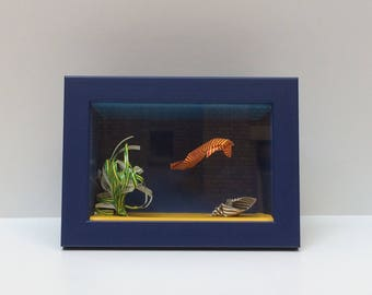 Showcase origami seabed - fish, seaweed and shell