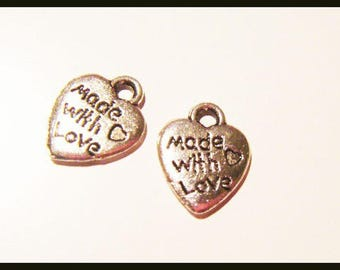 charm bead made with love heart