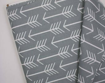 Arrows crib skirt, gray and white arrows bedding, baby bedding, crib skirt, woodland baby bedding, arrows nursery, gray crib skirt, baby bed
