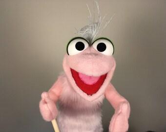 Pink Gecko Puppet