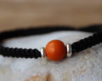 shamballa bracelet with Pearl seed acay