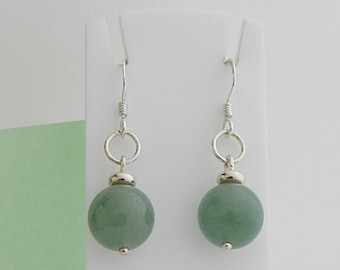 Aventurine and Silver earrings