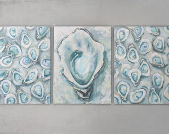 "Original Oyster Collection ""Positano"" 3 18x24 canvases"