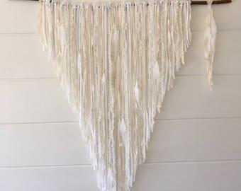 Dreamcatcher Branch fluffy white xxl