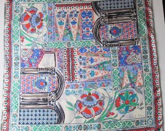 RICHARD ALLAN  silk twill scarf  PERFECT condition