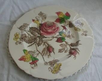 """Vintage Alfred Meakin """"Rosalie"""" Design Dinner Plate"""