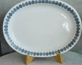 "Arabia Finland ""Linnea"" Pattern Serving Tray. Designed by Raija Uosikkinen at 1950's. 30 cms"