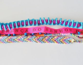 Friendship Bracelet multi strand and multicolored 16.5 cm long (free shipping)