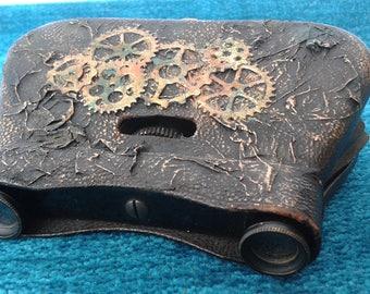 Vintage French La Mignonne Opera Binoculars Steampunk Inspired Upcycled