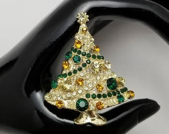 Multi-Color Christmas Tree Pin