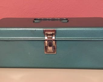 Vintage Metal Box with Tray