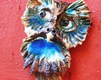 Ceramic wall owl