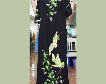 Black ao dai, ao dai, black holiday dress, kimono, hanbok, cheongsam, qipao