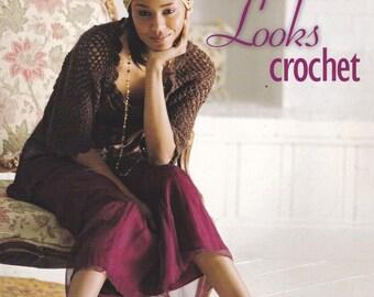 Romantic Looks Crochet, Leisure Arts Crochet Pattern Booklet 4324 Skirts Dress Jacket Accessories & More