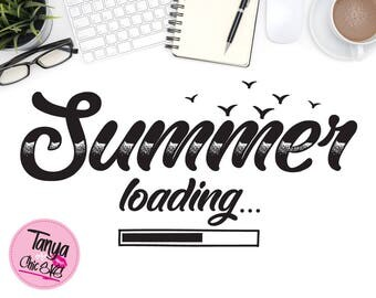 Summer loading SVG cut file for Cricut and Silhouette cutting machines Vacations SVG Unique Font