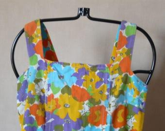 dress vintage floral printed Sun t.38/40