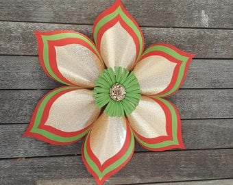 Large Christmas Paper Flower - Door Decor - Wall decor Christmas Parties or Events