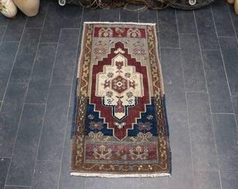 Oushak Rug, Hereke Rug, Anatolian Tradational Rug, Old Rug,Decorative Rug, Area Rug, Free Shipping 1.6 x 3.4 Pastel Color, Boho Rug No 1108