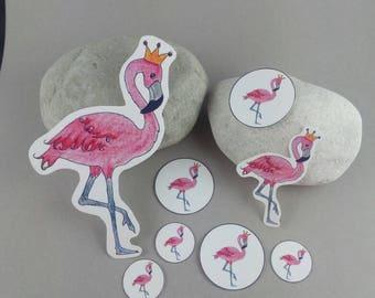 """Sticker set """"Flamingo King"""""""